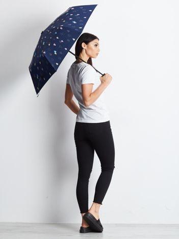 Granatowa mała parasolka
