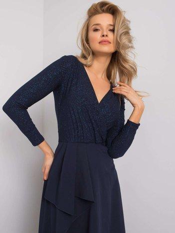 Granatowa sukienka Blanche