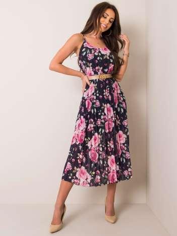 Granatowa sukienka Charlotte