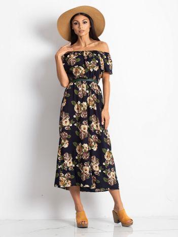 Granatowa sukienka Excellent