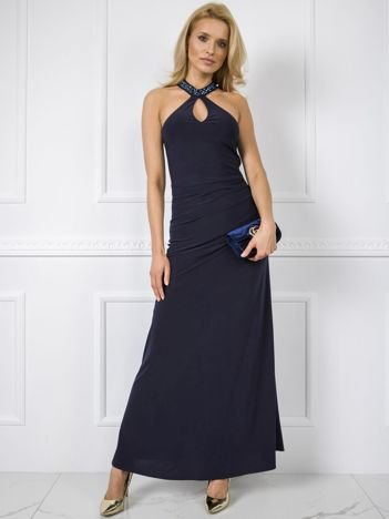 Granatowa sukienka Keisha