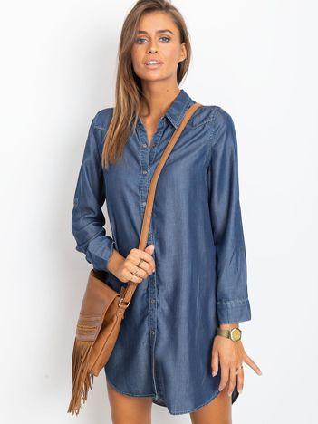 Granatowa sukienka Secret