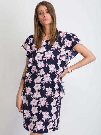 Granatowa sukienka Thassos