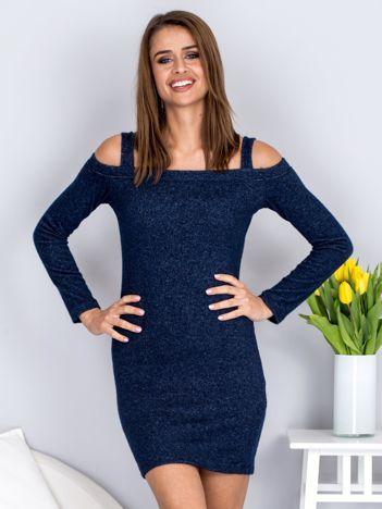 Granatowa sukienka cold arms