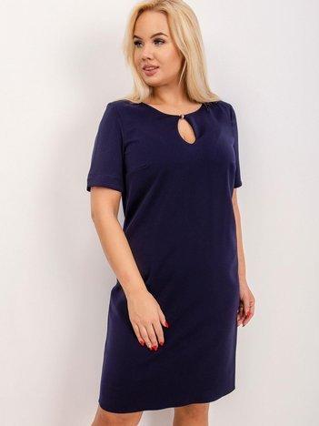 Granatowa sukienka plus size Together
