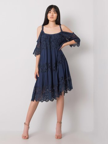 Granatowa sukienka z koronką Fiona OCH BELLA