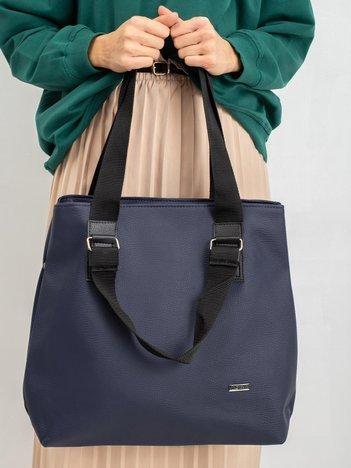 Granatowa torba shopper