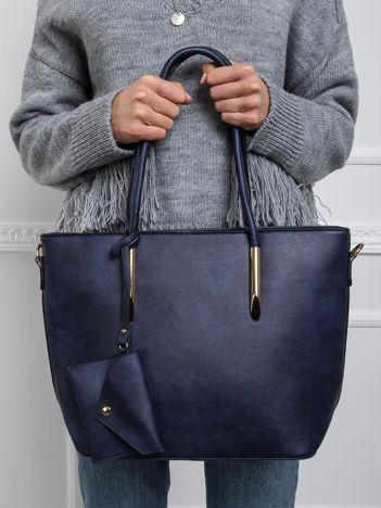 Granatowa torba shopper bag