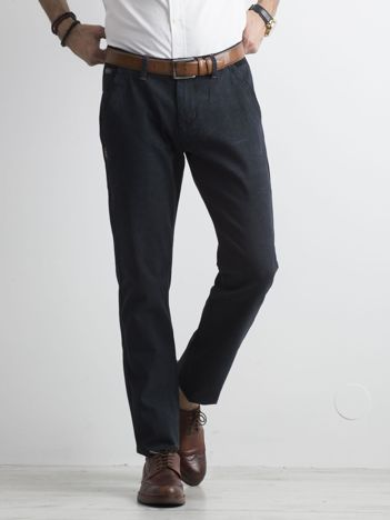 Granatowe męskie spodnie chinosy