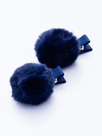 Granatowe spinki do włosów bąbelki 2 szt.