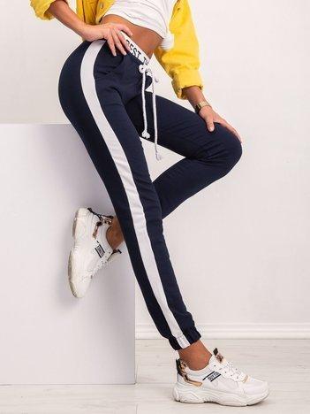 Granatowe spodnie Glammy