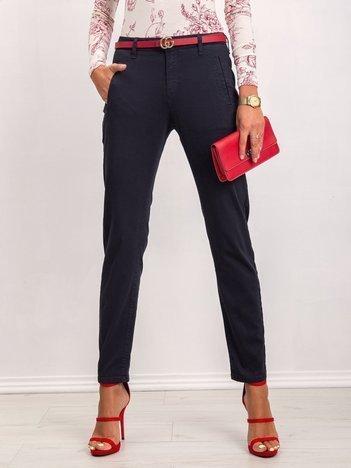 Granatowe spodnie Izzie