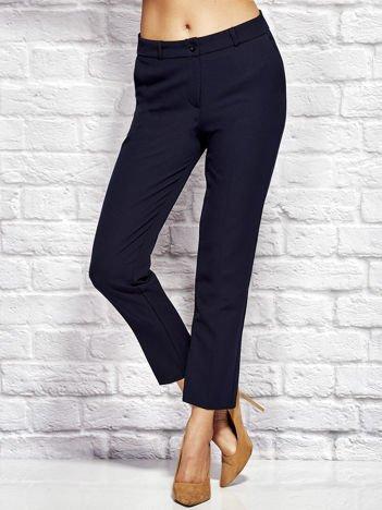 Granatowe spodnie cygaretki