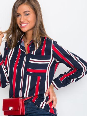 Granatowo-czerwona koszula Crush
