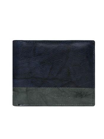 Granatowy portfel bez zapięcia