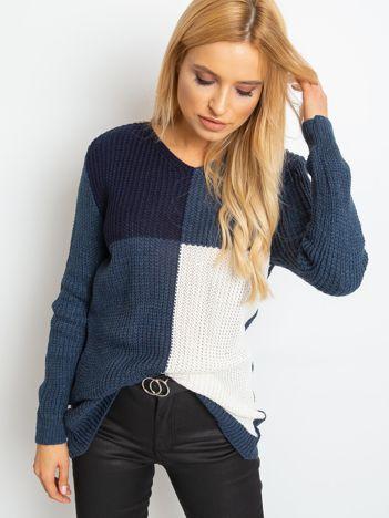 Granatowy sweter Latina