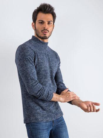 Granatowy sweter męski Allow