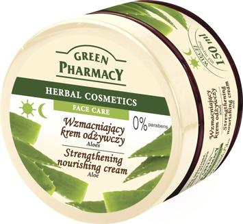 Green Pharmacy Herbal Cosmetics Krem do twarzy wzmacniający z aloesem 150 ml