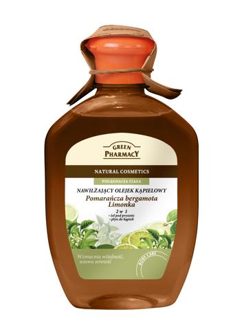 Green Pharmacy Olejek kąpielowy nawilżający 2w1 Pomarańcza, Bergamota, Limonka 250 ml