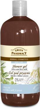 Green Pharmacy Żel pod prysznic Oliwki & Mleczko ryżowe 500 ml