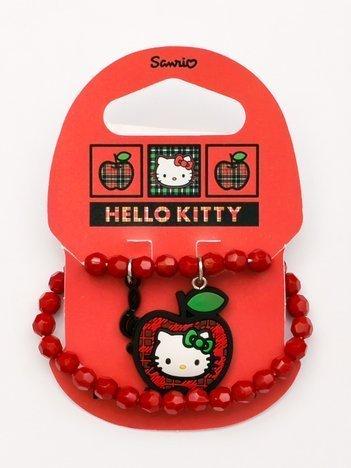 HELLO KITTY Bransoletka czerwona dla dziewczynki z postacią z ulubionej bajki