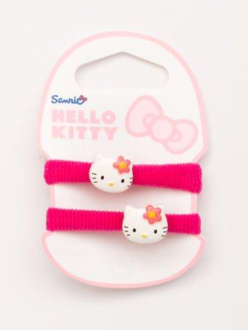 HELLO KITTY Zestaw 2 szt. różowych gumek do włosów dla dziewczynki