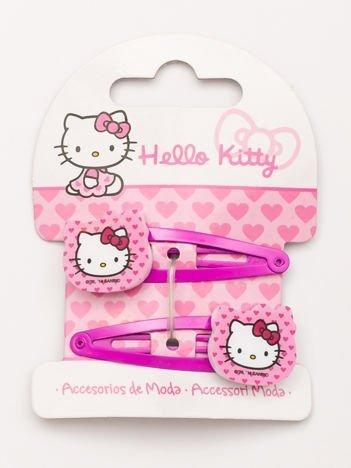 HELLO KITTY Zestaw 2 szt. różowych spinek do włosów dla dziewczynki