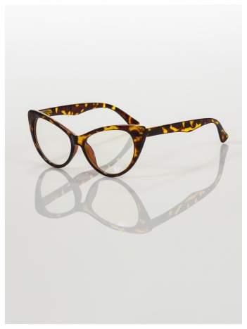 HIT 2016 Modne okulary zerówki KOCIE OCZY w stylu Marlin Monroe- soczewki ANTYREFLEKS+system FLEX na zausznikach