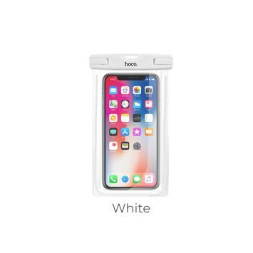 HOCO Wodoszczelne uniwersalne etui zabezpiecza smartfon aparat do głębokości 20m Kolor biały