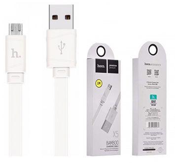 HOCO X5 Wytrzymały kabel Micro-USB do urządzeń Android Jednoczesne ładowanie i transfer danych Szybkie ładowanie Długość 1m Kolor biały