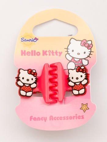 Hello Kitty Komplet 2 brzoskwiniowych klamerek do włosów dla dziewczynki