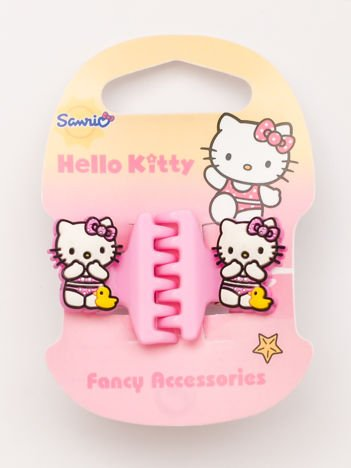 Hello Kitty Komplet 2 jasnoróżowych klamerek do włosów dla dziewczynki