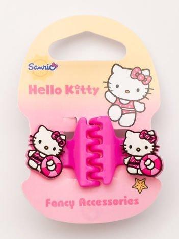 Hello Kitty Komplet 2 różowych klamerek do włosów dla dziewczynki