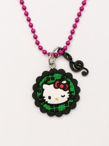 Hello Kitty Różowy naszyjnik kulkowy z zawieszkami