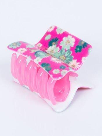 INCA Klamra do włosów różowa w kwiaty 5 cm