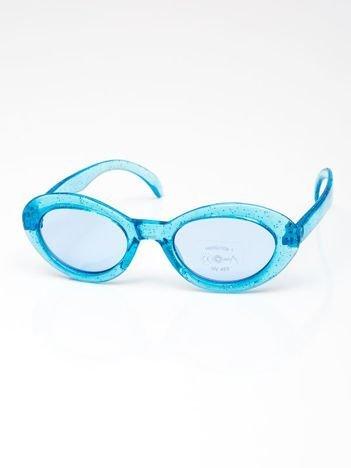 INCA Okulary dziecięce niebieskie z brokatem