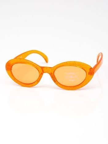 INCA Okulary dziecięce pomarańczowe z brokatem