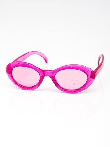 INCA Okulary dziecięce różowe z brokatem