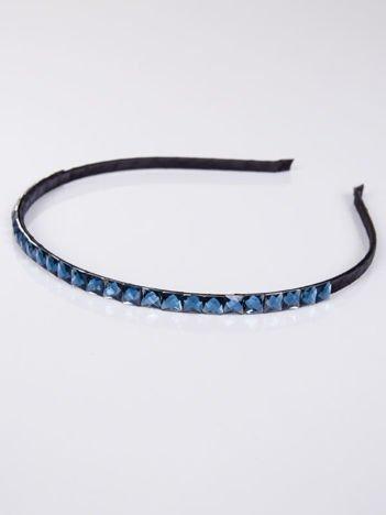 INCA Opaska do włosów z ozdobnymi niebieskimi cyrkoniami