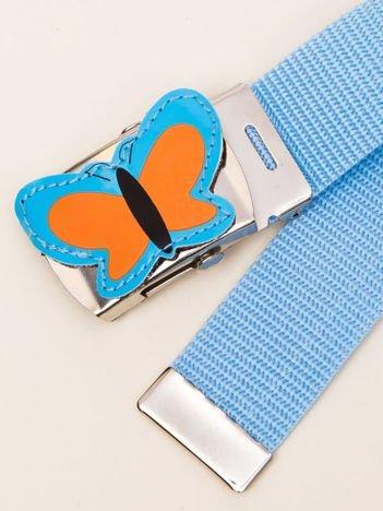 INCA Pasek dziecięcy błękitny z motylkiem