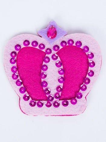 INCA Portfelik różowy korona