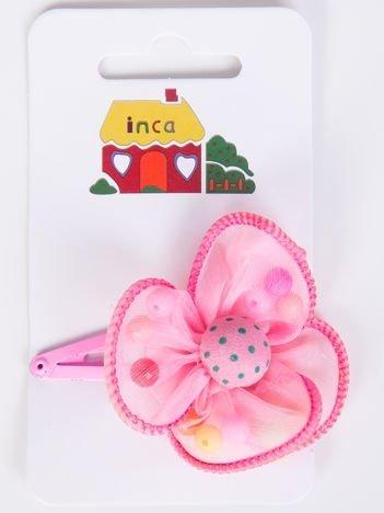 INCA Spinka jasnoróżowa z kwiatem ozdobnym
