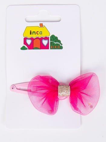 INCA Spinka jasnoróżowa z różową kokardką