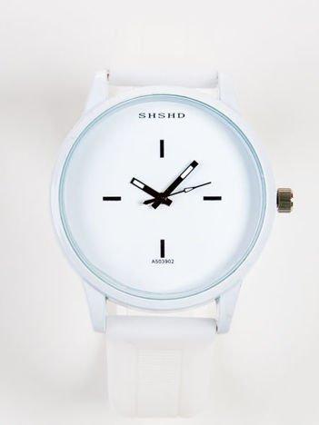 JELLY Biały Zegarek unisex z dużą tarczą