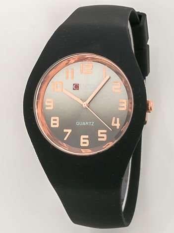 JELLY Zegarek damski na silikonowym wygodnym pasku czarny
