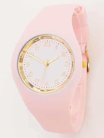 JELLY jasnoróżowy zegarek damski