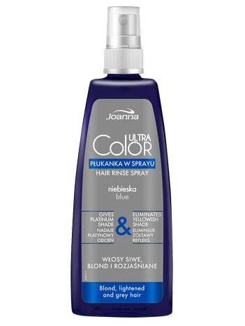 JOANNA Ultra Color System Niebieska płukanka do blondów w sprayu 150 ml