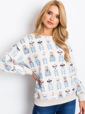 Jasnobeżowa bluza Dogs