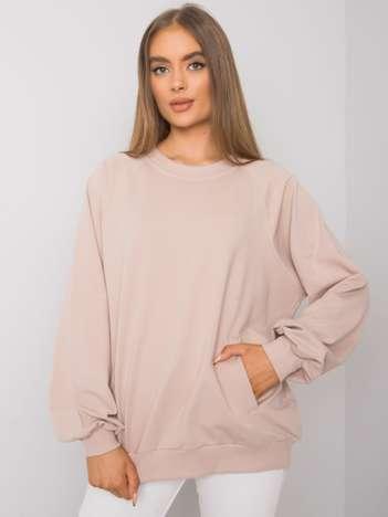 Jasnobeżowa bluza z kieszeniami Gaelle RUE PARIS