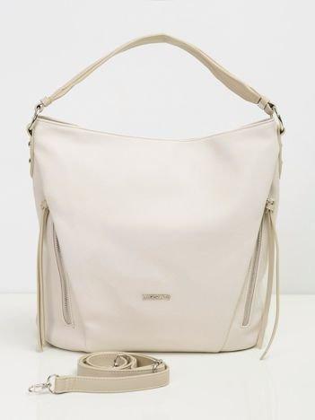 Jasnobeżowa torba damska z ekologicznej skóry